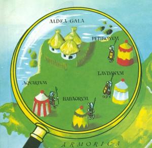Détail de la traduction espagnole des camps retranchés de la fameuse page 3 des albums d'Astérix