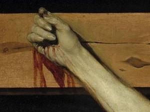 «Christ crucifié» de Vélasquez. Détail du pouce rabattu